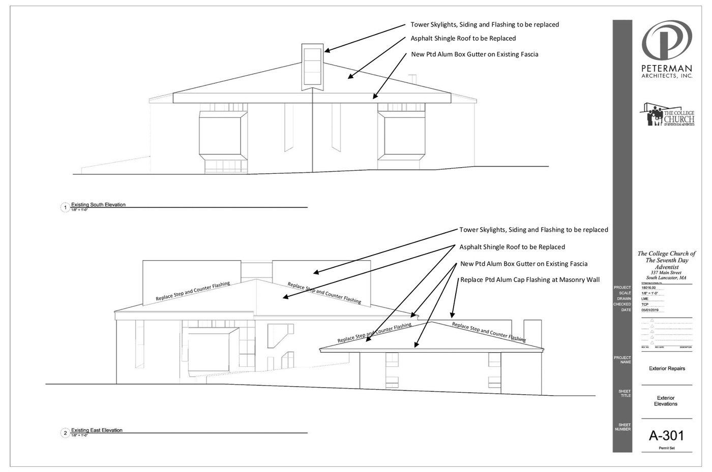 Blueprint 2 of roof