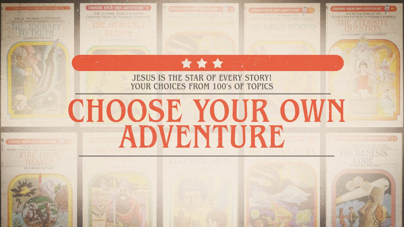 """New Teaching Series on """"Choose Your Own Adventure!"""