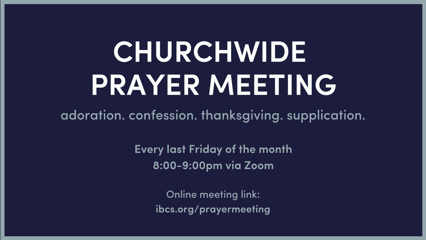 prayer meeting, prayer
