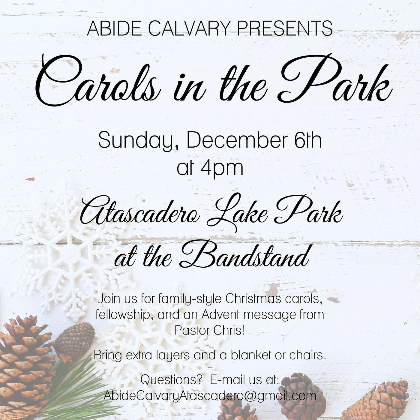 Abide Calvary - Carols in the Park