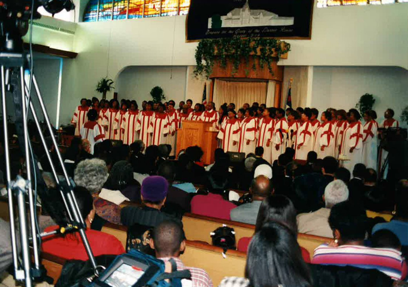New Covenant Church of Philadelphia holds it final morning service in the property at Johnson & Ardleigh Streets.