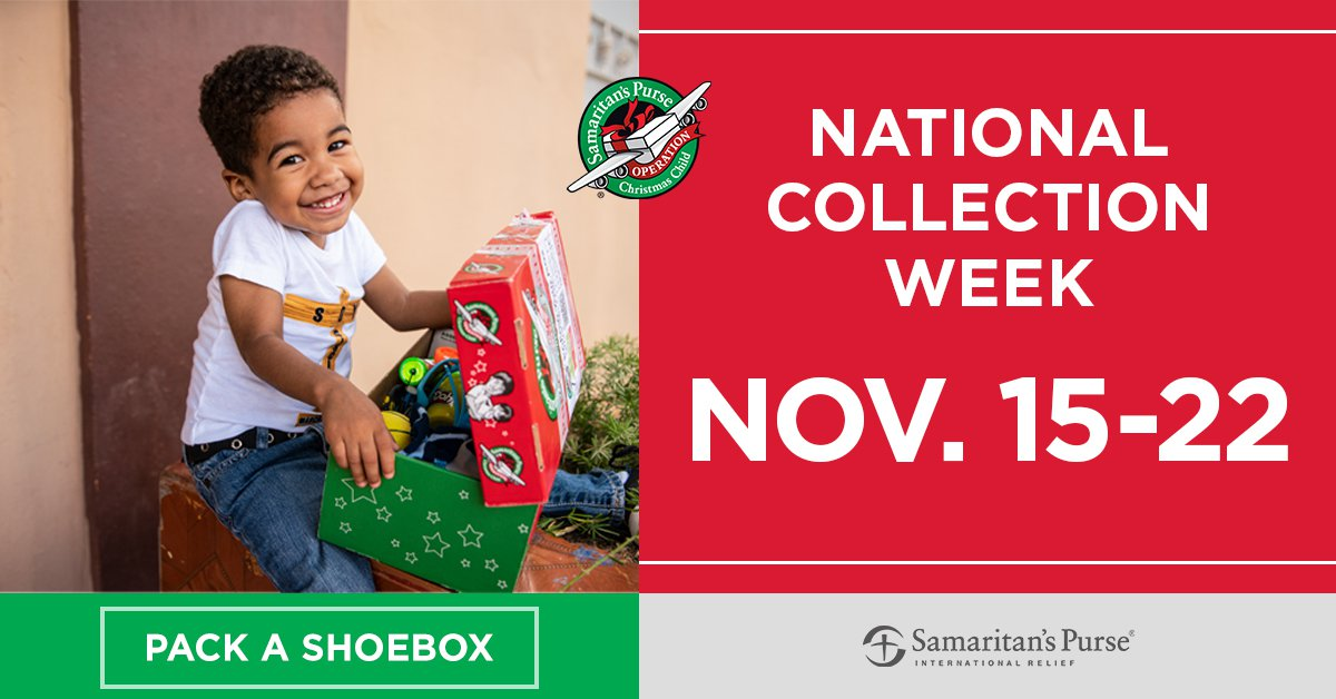 Operation Christmas Child Collection Week November 15-22, 2021