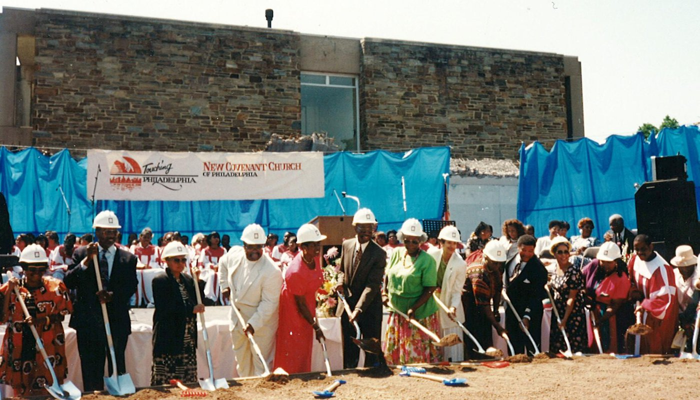 The Groundbreaking Ceremony of the new sanctuary for the New Covenant Church of Philadelphia