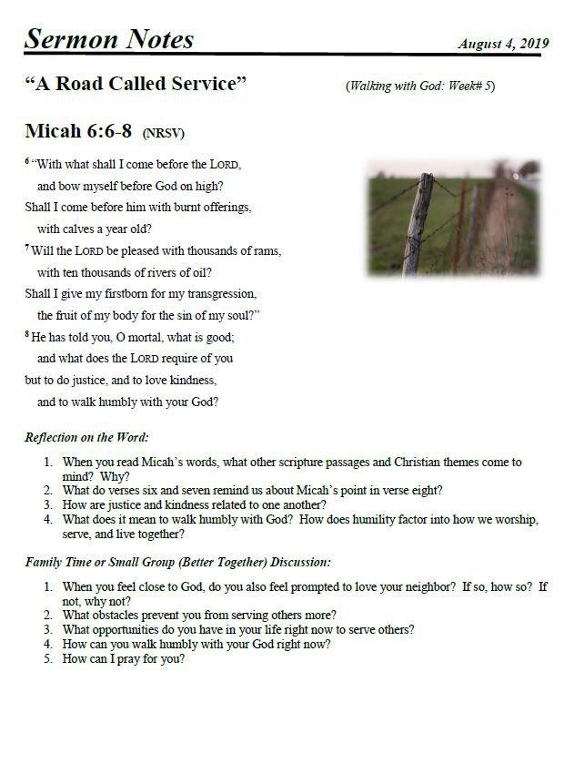 GBUMC, church study, bible study, sermon notes