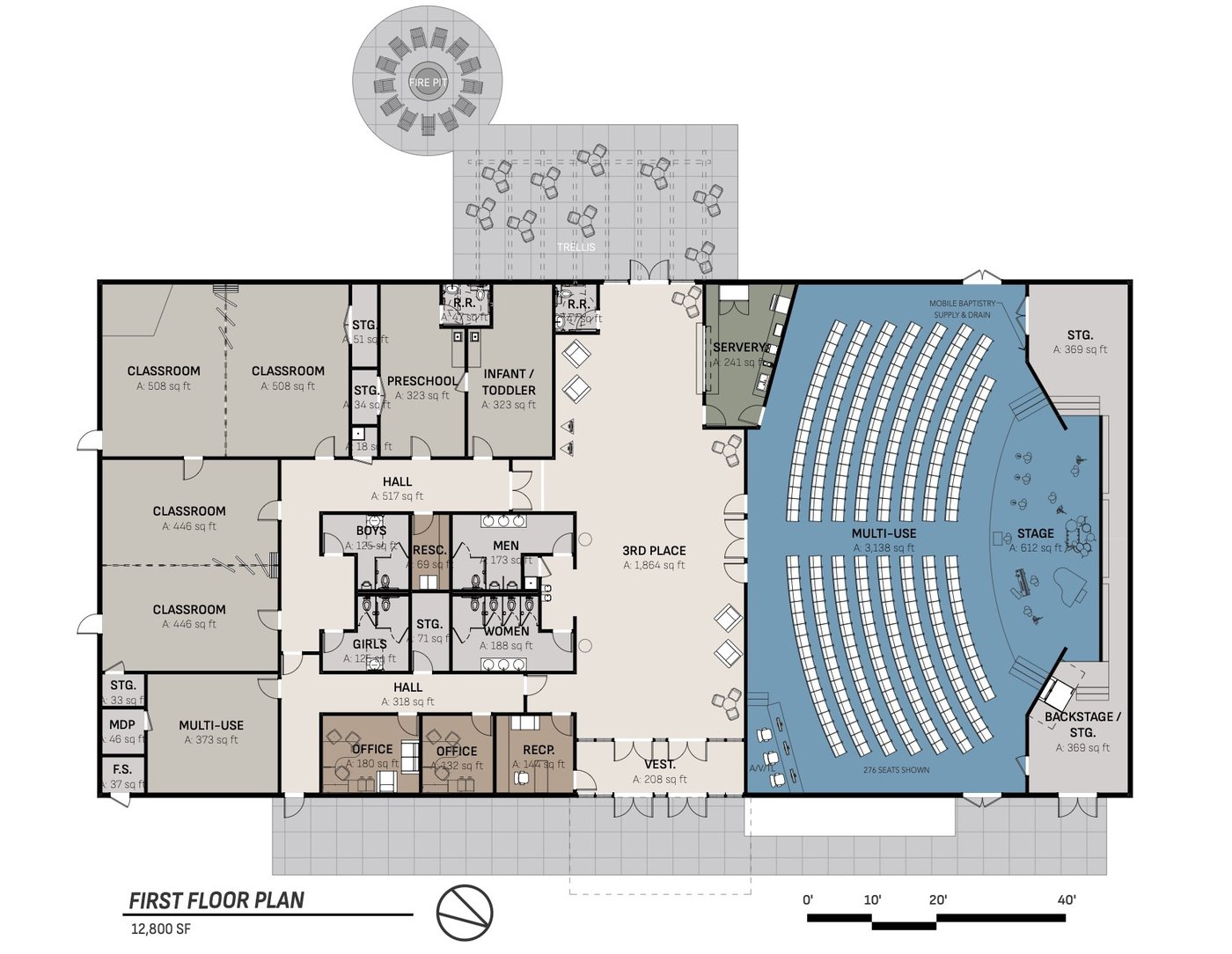 Concept interior of building