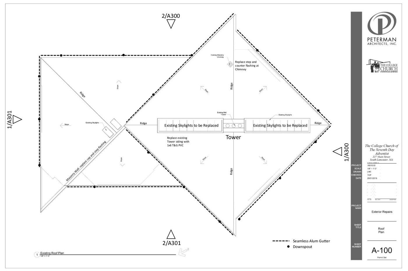 Blueprint 1 of roof