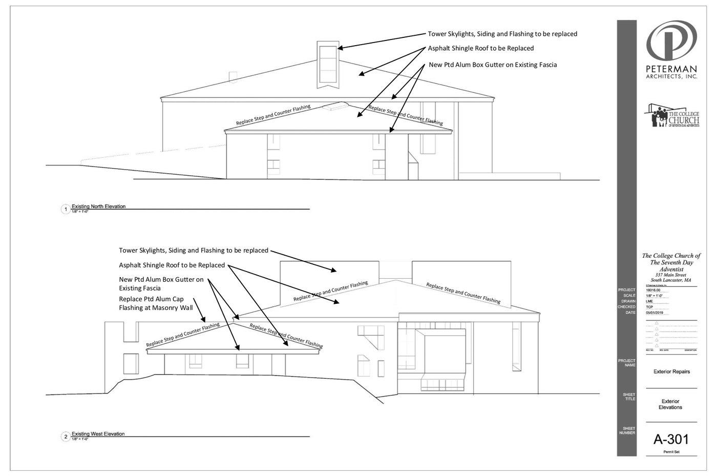 Blueprint 3 of roof