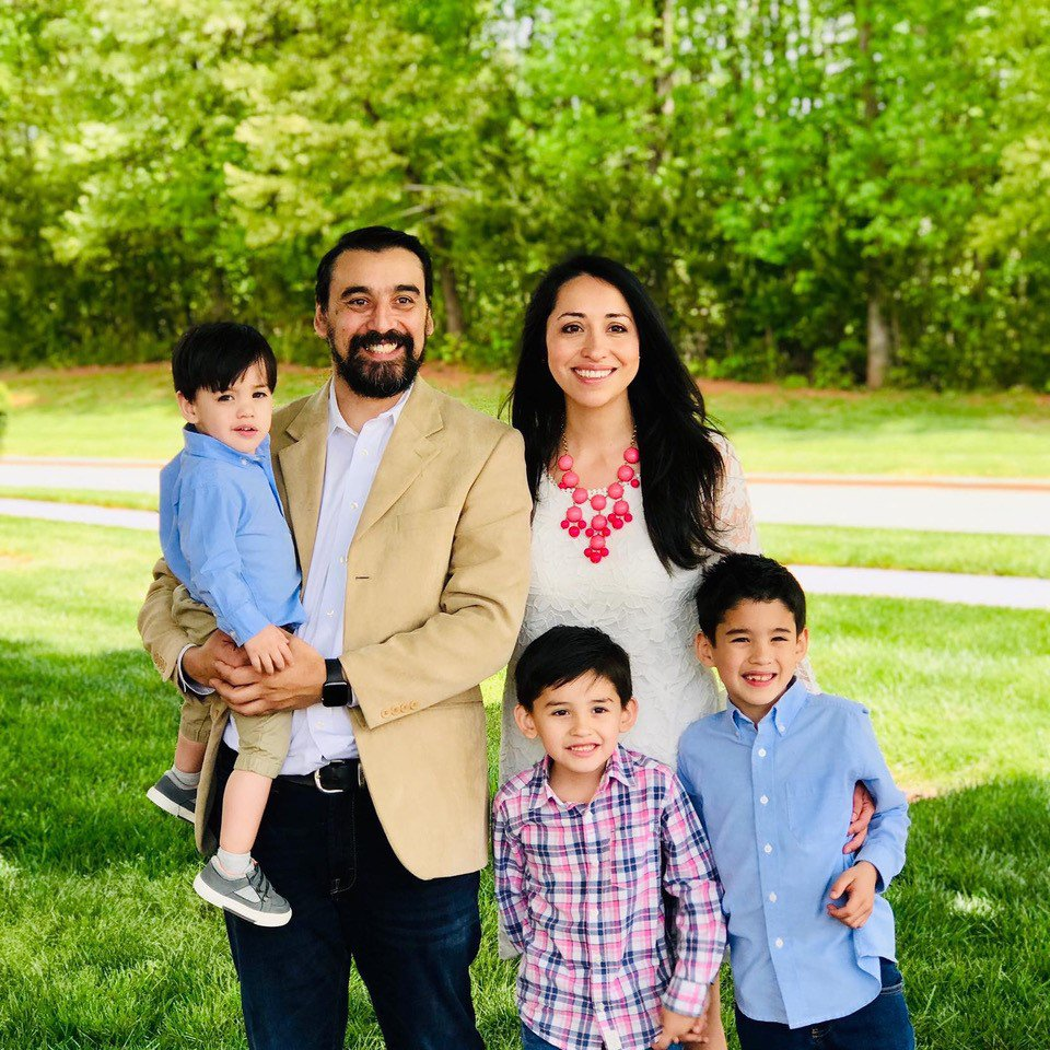 Spanish pastor and family