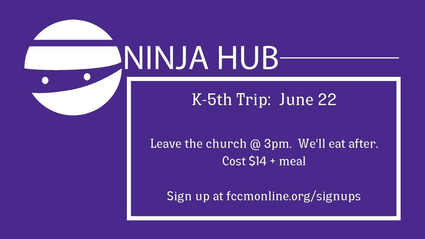 Image for upcoming K-5 trip to the local Ninja Hub Gym