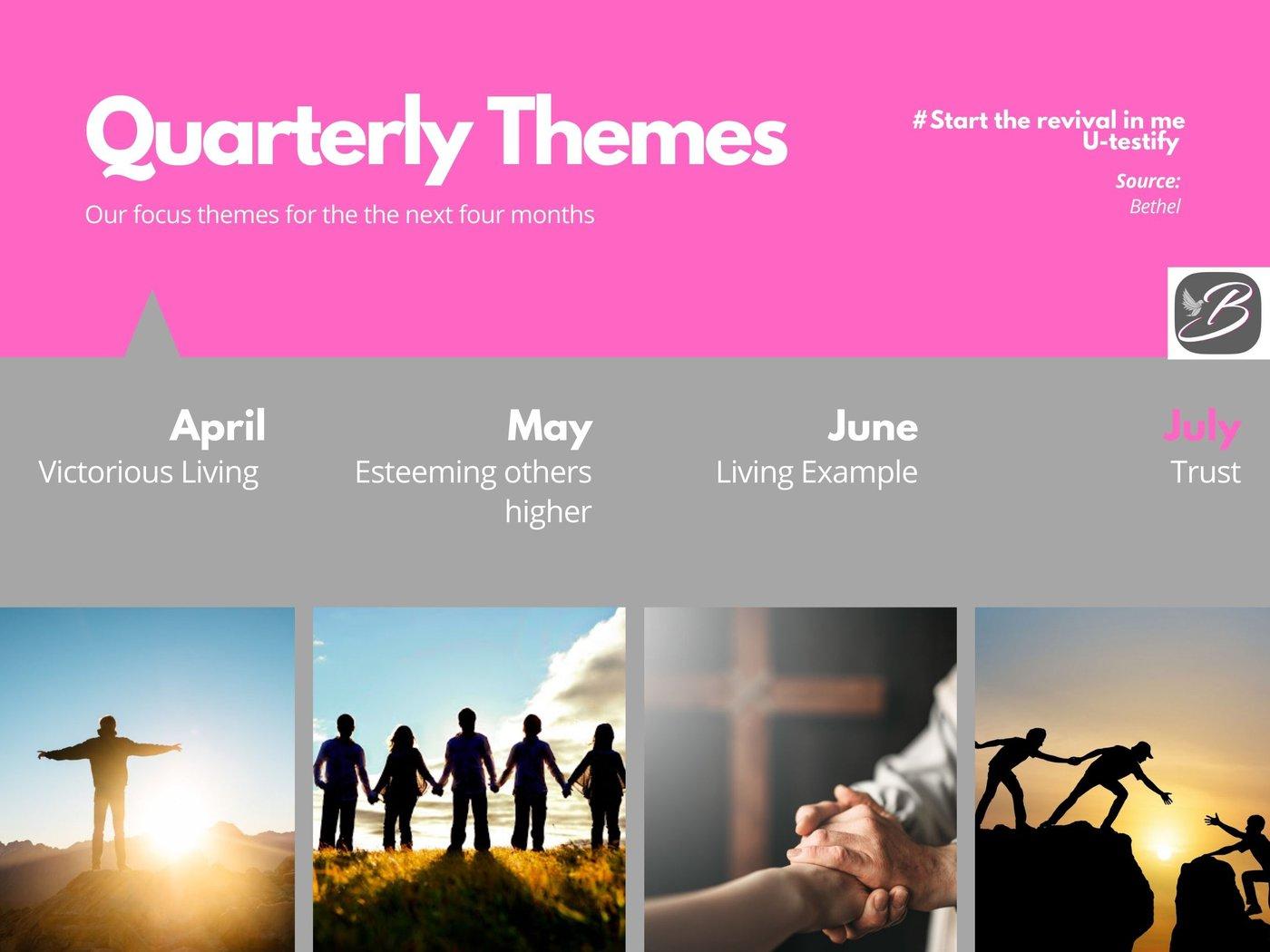 Quarterly Themes for Bethel Apostolic