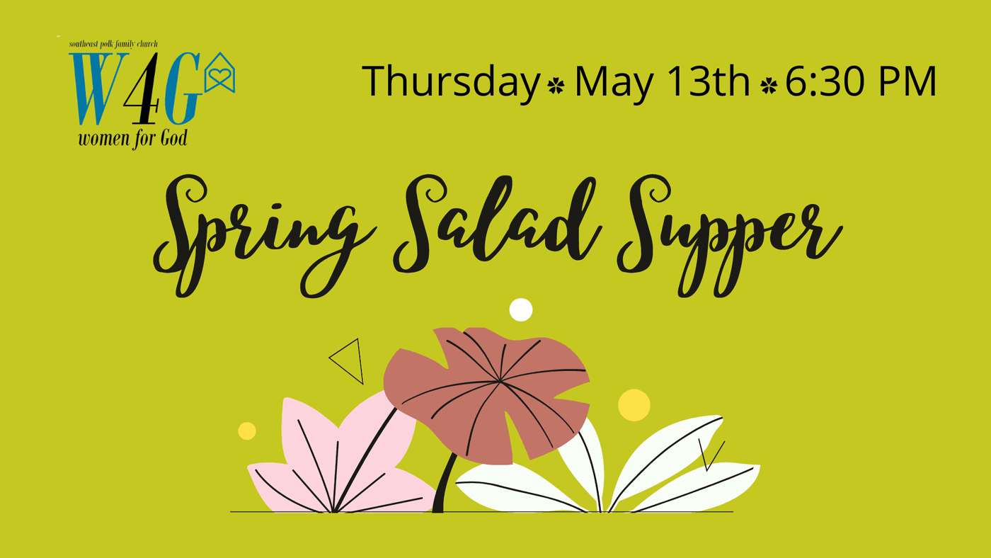 W4G Spring Salad Supper