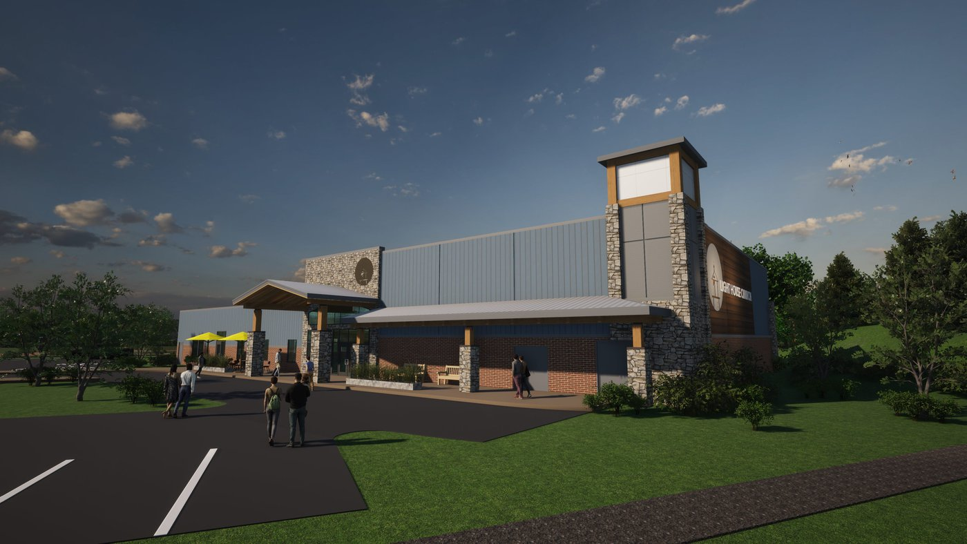 Concept Rendering of Exterior building