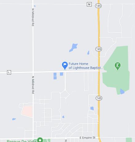 Map to Sunrise Service Location