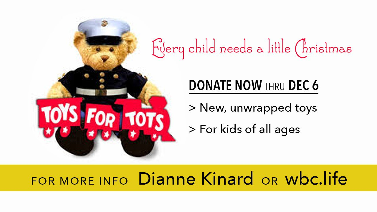 This ministry, organized by the Marine Corps, helps parents provide Christmas for their kids. New, unwrapped toys will be collected beginning in November.