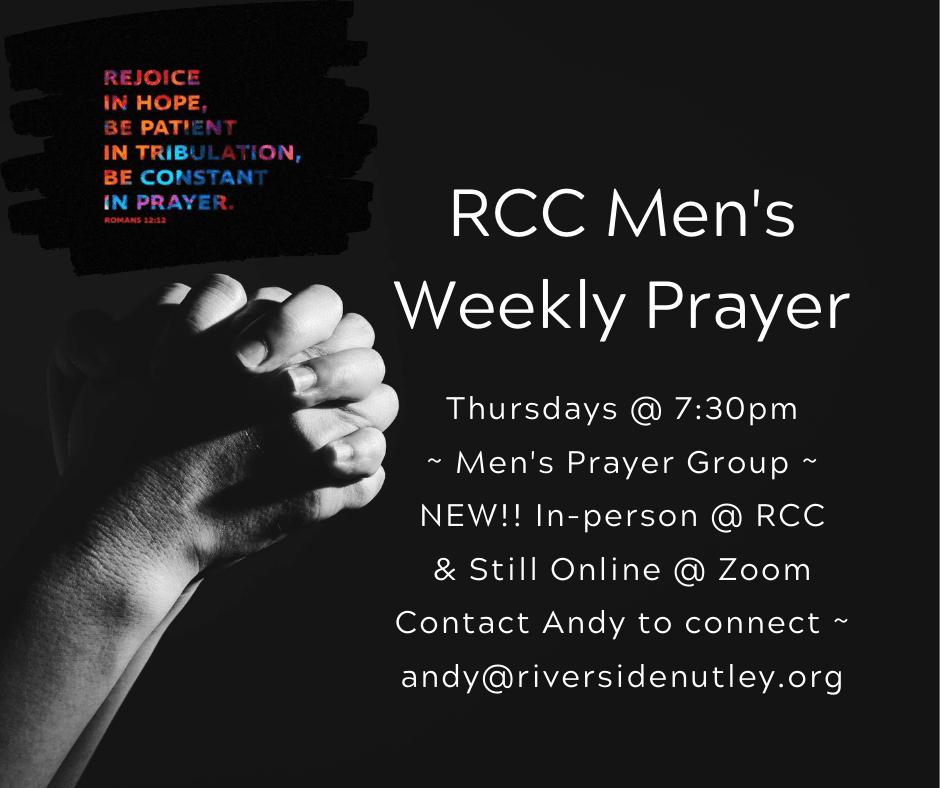 "Men's Weekly ""Hybrid"" Prayer Group"