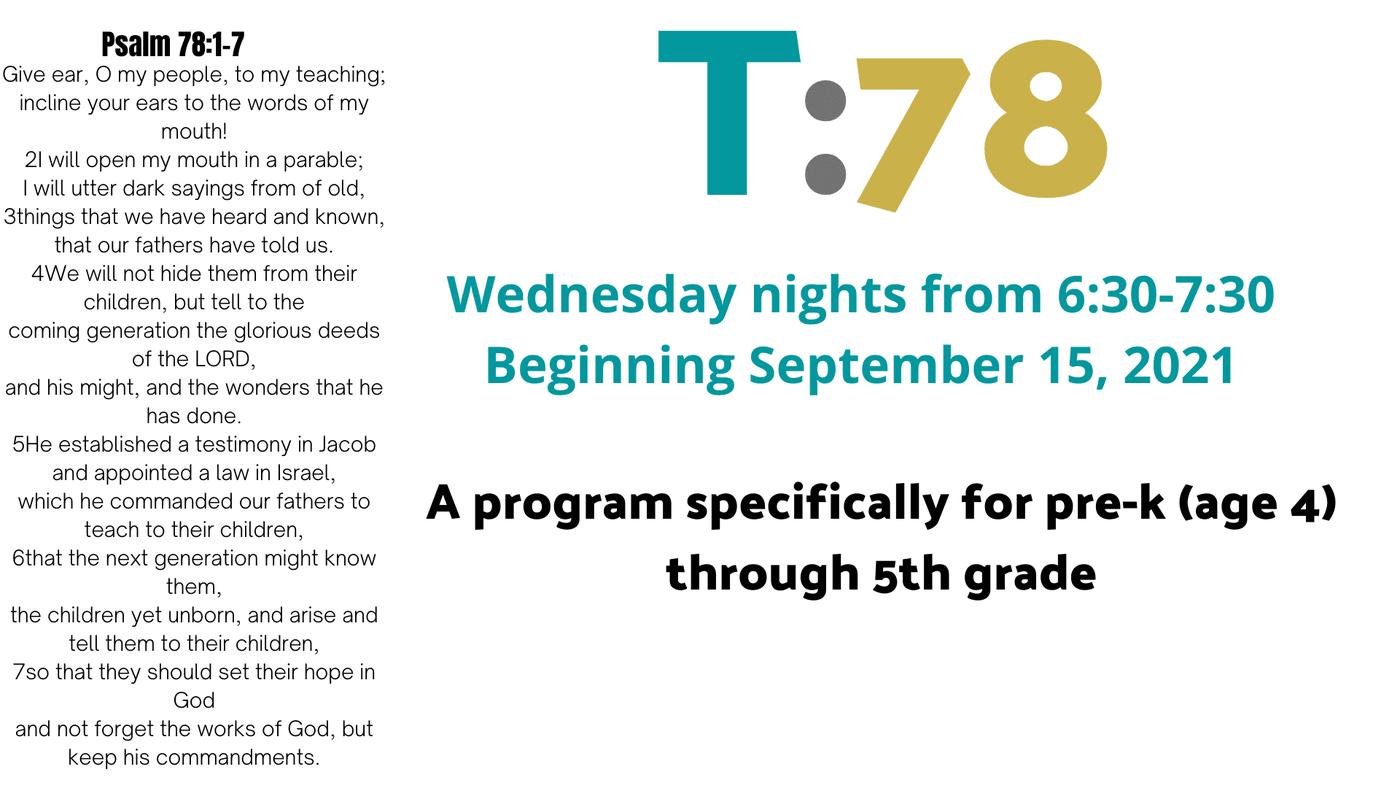 T:78 Mid-Week Kids Program