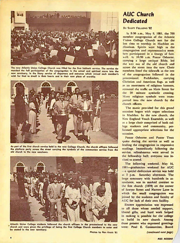 page from 1981 AUC Accent